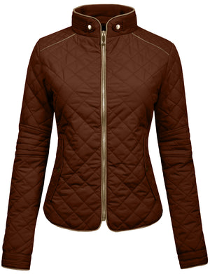 LIGHT WEIGHT QUILTED ZIP JACKETS