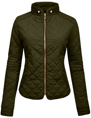 LIGHT WEIGHT QUILTED ZIP JACKET NEWJ22