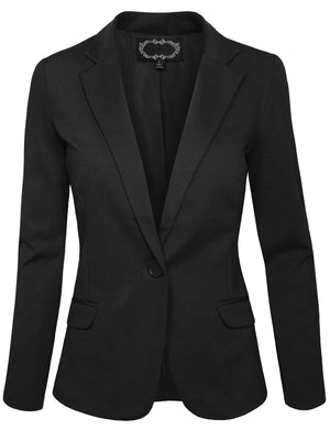 SLIM FIT ONE BUTTON OFFICE BLAZER JACKET NEWJ28