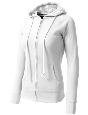 WOMEN CASUAL LIGHT WEIGHT THERMAL HOODIE NEWJ33