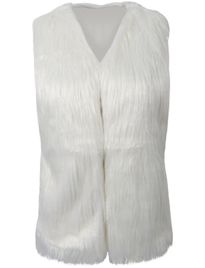 LIGHT WEIGHT FAUX FUR WAISTCOAT VEST NEWJ51