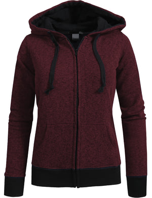 LONG SLEEVE FLEECE HEATHERED ZIP-UP HOODIE NEWJ69