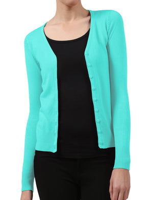 BUTTON DOWN CLASSIC V-NECK CARDIGAN SWEATER WITH STRETCH NEWJ91 PLUS