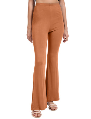 CAUSAL BELL BOTTOM SPANDEX JERSEY LONG PANTS NEWP28