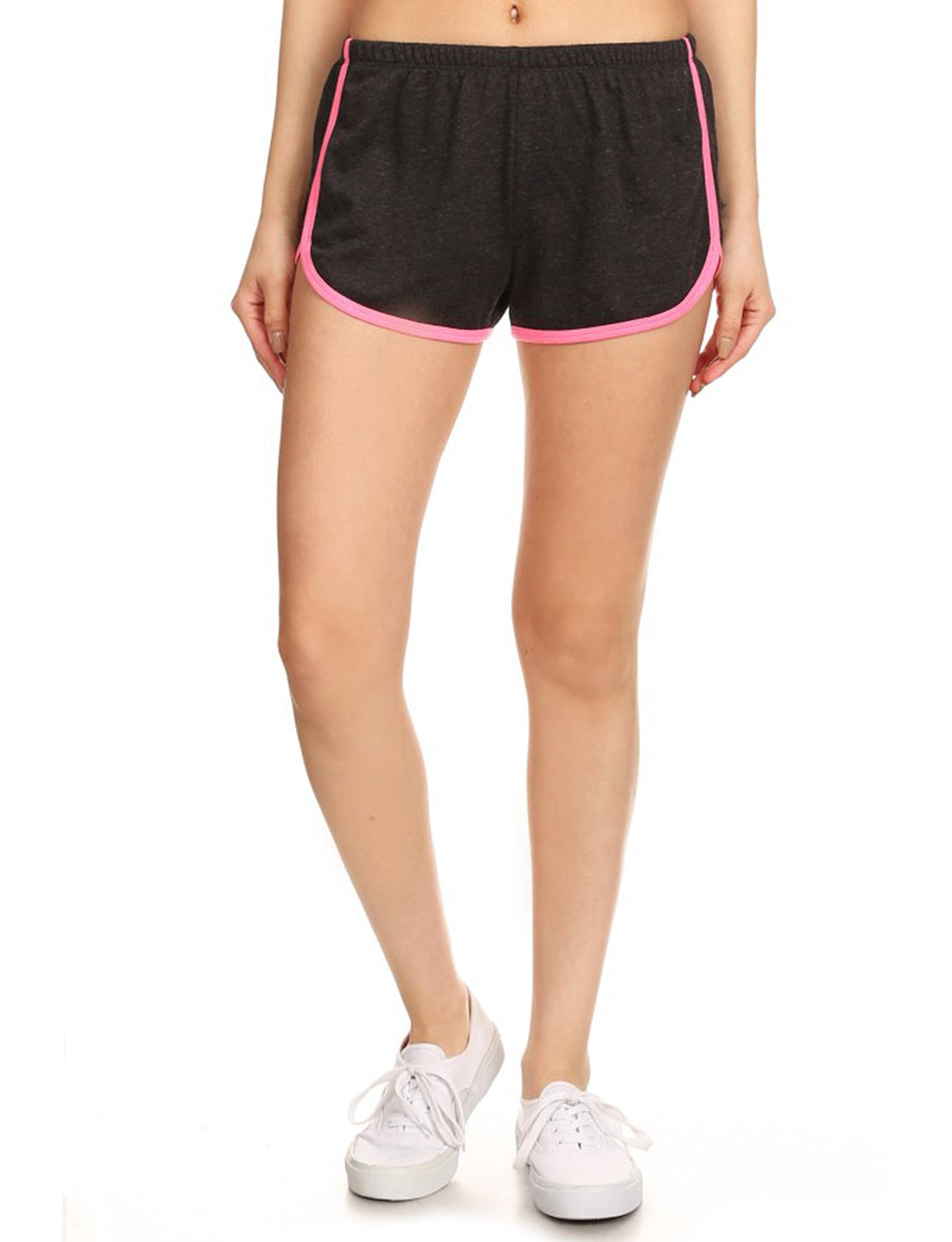 LIGHT WEIGHT TERRY TRACK SHORTS WITH ELASTIC WAISTBAND NEWP34