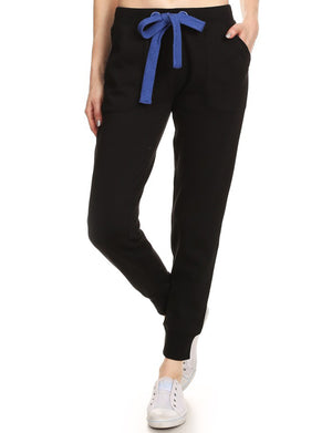 CASUAL WIDE-STRING TRAINING FLEECE JOGGING PANTS NEWP36
