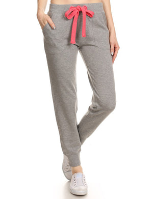CASUAL WIDE-STRING TRAINING FLEECE JOGGING PANTS NEWP36 PLUS
