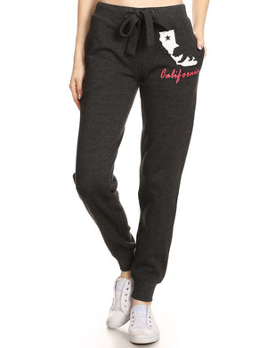 CASUAL WIDE-STRING CALIFORNIA FLEECE JOGGING PANTS NEWP37