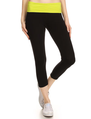 HIGH WAISTED SPORTS/YOGA FITNESS CAPRI LEGGINGS NEWP39 PLUS