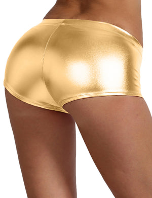 SEXY SHORTS METALLIC/SATIN SPANDEX HOT PANTS NEWP40