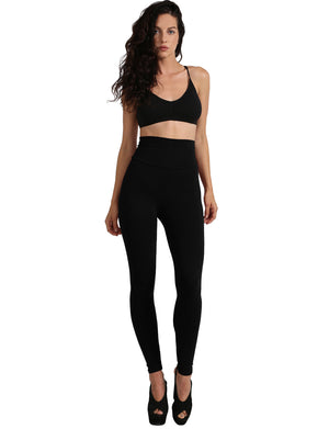 HIGH WAIST COTTON FULL LENGTH LEGGINGS NEWP45 PLUS