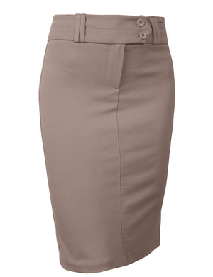 HIGH WAISTED MIDI PENCIL SKIRT NEWSK02