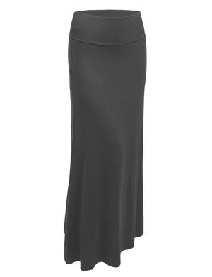 STRETCHY PREMIUM BASIC FOLDOVER JERSEY MAXI SKIRTS NEWSK05