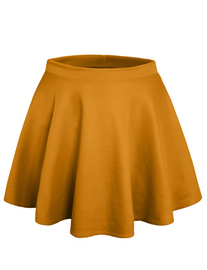 STRETCHY CASUAL MINI FLARED SKATER SKIRT NEWSK06