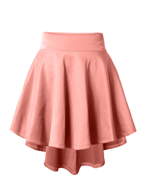 STRETCHY CASUAL MINI FLARED SKATER SKIRT NEWSK12