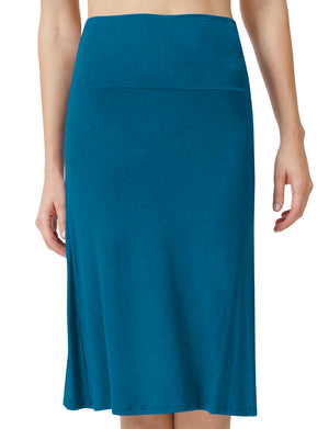 SOLID LIGHT WEIGHT MID LENGTH FLATEAL MAXI SKIRT NEWSK15