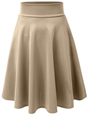 STRETCHY CASUAL MINI FLARED SKATER SKIRT NEWSK21
