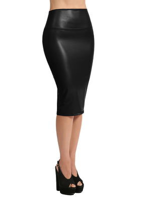 STRETCH BODYCON MIDI PENCIL SKIRT NEWSK34 PLUS