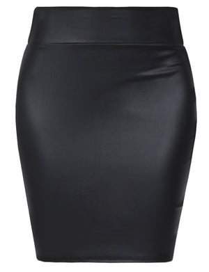 STRETCH KNIT BODYCON MINI PENCIL SKIRT NEWSK38