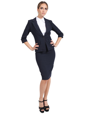 FORMAL OFFICE BUSINESS WORK BLAZER AND SKIRT SUIT SET NEWSS13