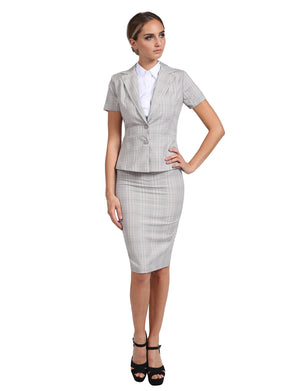FORMAL OFFICE BUSINESS WORK BLAZER AND SKIRT SUIT SET NEWSS16