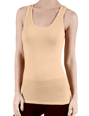 LIGHT WEIGHT CONTRAST INNER BINDING RACERBACK TANK TOP NEWT117
