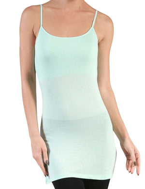 LIGHT WEIGHT BASIC SPAGHETTI STRAP SHELF BRA TUNIC TANK TOP NEWT125
