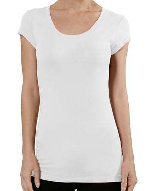 BASIC SHORT SLEEVE SCOOP NECK T-SHIRTS NEWT130 PLUS