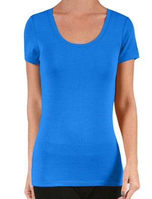 LIGHT WEIGHT SHORT SLEEVE SCOOP NECK T-SHIRTS NEWT131
