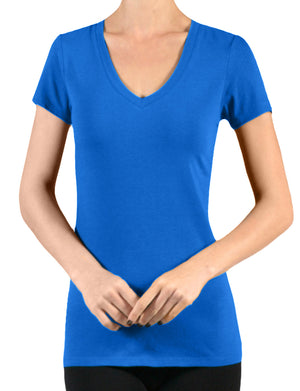LIGHT WEIGHT SHORT SLEEVE COTTON V-NECK T-SHIRTS NEWT134