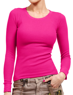 LIGHT WEIGHT BASIC LONG CUFF SLEEVE CREW NECK THERMAL T-SHIRTS NEWT178