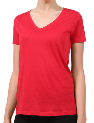 LIGHT WEIGHT BASIC SHORT SLEEVE V-NECK CASUAL T-SHIRTS NEWT211