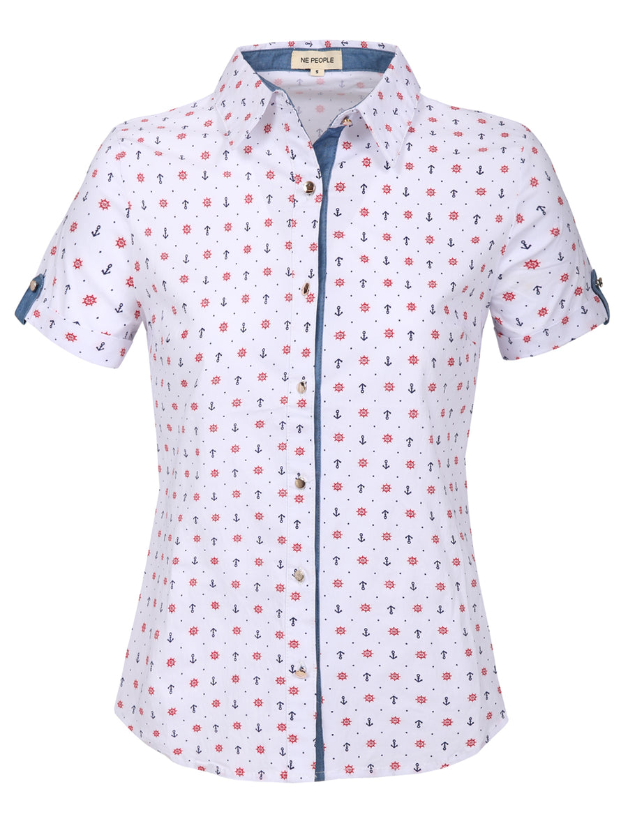 TAILORED SHORT SLEEVE BUTTON DOWN SHIRTS NEWT299