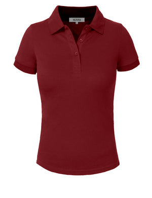 BASIC SOLID PIQUE POLO SHIRTS NEWT30 PLUS