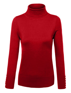 KNIT TURTLE NECK LONG SLEEVE PULLOVER SWEATER NEWT310