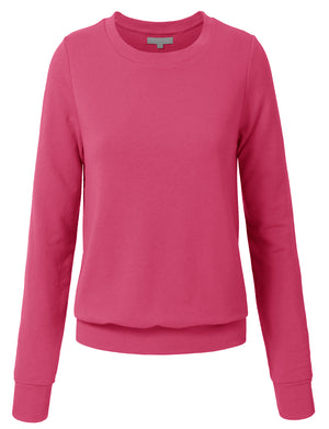 WOMEN BASIC PULLOVER CREW NECK SWEAT-SHIRTS NEWT35