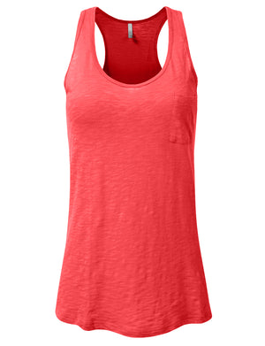 RELAXED SCOOP NECK TANK TOP WITH POCKET NEWT50