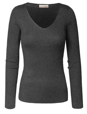 V-NECK LONG SLEEVE SLIM FIT SWEATER NEWT719