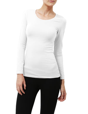 LIGHT WEIGHT BASIC LONG SLEEVE ROUND CREW NECK CASUAL T-SHIRTS NEWT78