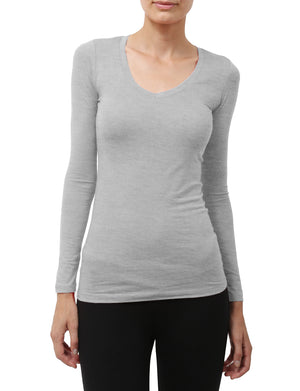 LIGHT WEIGHT BASIC LONG SLEEVE V-NECK SHIRTS NEWT90 PLUS