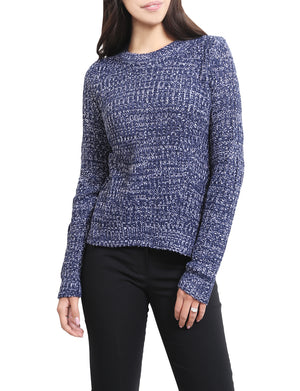 LIGHT WEIGHT LONG SLEEVES CHUNKY KNITTED SWEATER NEWT93