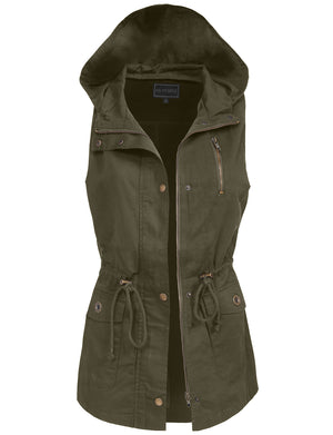 LIGHT WEIGHT SLEEVELESS SHORT ANORAK VEST NEWV1080 PLUS
