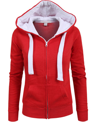 LONG SLEEVE ZIP-UP JACKET HOODIE WITH STRIPE PRINT DETAIL NEWZ71