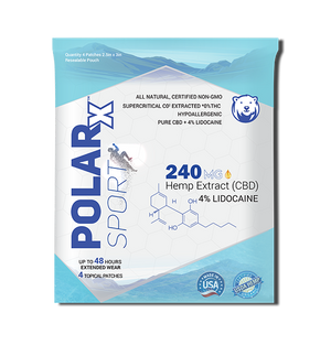 PolarX™ CBD Patch + 4% Lidocaine
