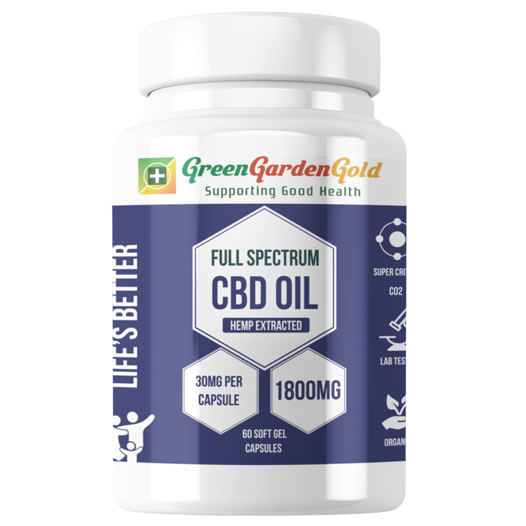 CBD Oil Capsules: 60ct
