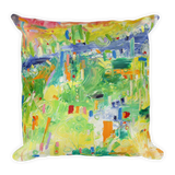 Animist Landscape by Andrei Hedstrom Square Pillow