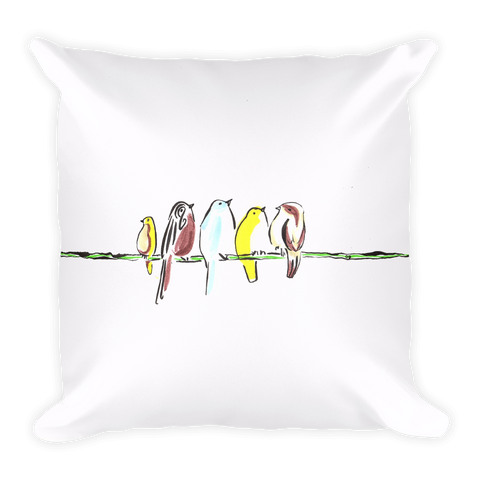 Online Meeting by Andrei Hedstrom-Square Pillow