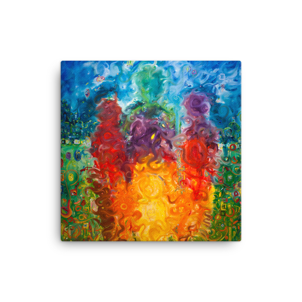 Family by Andrei Hedstrom 12x12 Fine Art Canvas Print