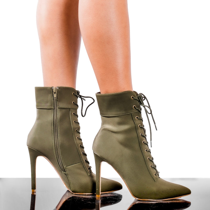 Social Bootie- Olive