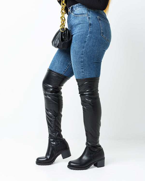 Jackie Stretch Thigh High Boot